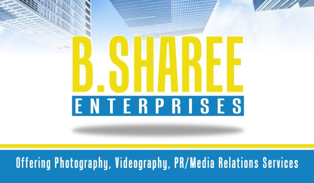 B Sharee Enterprises- Business Card (Front)